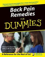 Cover of: Back pain remedies for dummies