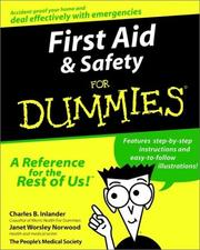 Cover of: First Aid & Safety for Dummies | Arco