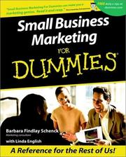 Cover of: Small Business Marketing for Dummies | Barbara Findlay Schenck