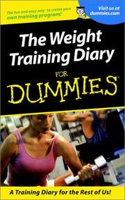 Cover of: Weight Training Diary for Dummies |