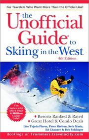 Cover of: The Unofficial Guide to Skiing in the West