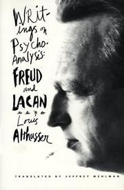Cover of: Writings on psychoanalysis: Freud and Lacan