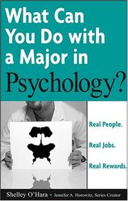 Cover of: What can you do with a major in psychology?