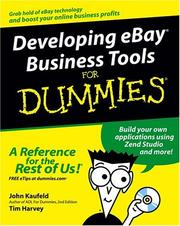 Cover of: Developing eBay business tools for dummies | John Kaufeld