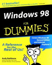 Cover of: Windows® 98 For Dummies® & Internet For Dummies® Pkt Ed Bundle
