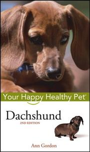 Cover of: Dachshund: Your Happy Healthy Pet