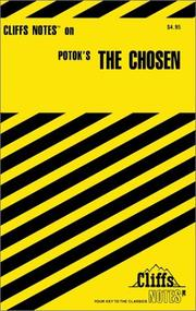 Cover of: Cliff Notes on The Chosen