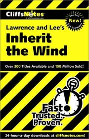 Cover of: CliffsNotes Lawrence and Lee's Inherit the wind | Suzanne Pavlos