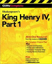Cover of: King Henry IV, Part 1