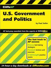 Cover of: U.S. Government and Politics (Cliffs AP)