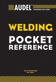 Cover of: Audel Welding Pocket Reference (Audel Technical Trades Series) |