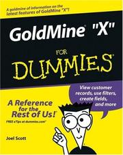 Cover of: GoldMine 8 For Dummies (For Dummies (Computer/Tech))
