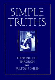 Cover of: Simple truths: thinking life through