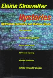 Cover of: Hystories by Elaine Showalter, Elaine Showalter