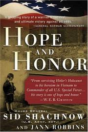 Cover of: Hope and honor | Sidney Shachnow