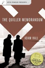 Cover of: The Quiller memorandum
