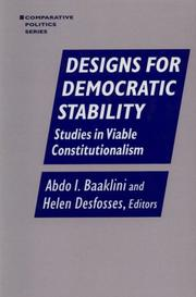 Cover of: Designs for Democratic Stability |