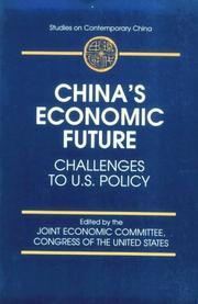 Cover of: China's economic future