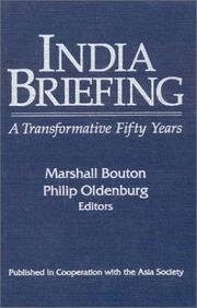 Cover of: India briefing