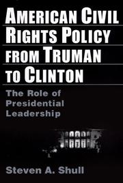 Cover of: American civil rights policy from Truman to Clinton