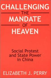 Cover of: Challenging the Mandate of Heaven | Elizabeth J. Perry