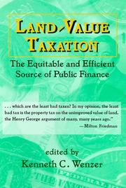 Cover of: Land-Value Taxation | Kenneth C. Wenzer