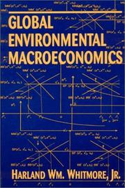 Cover of: Global Environmental Macroeconomics