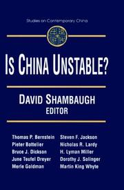 Cover of: Is China Unstable | David L. Shambaugh