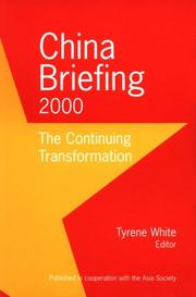 Cover of: China Briefing 2000 | Tyrene White