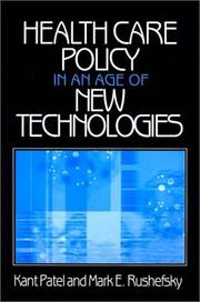 Cover of: Health Care Policy in an Age of New Technologies