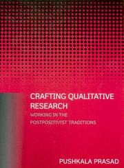 Cover of: Crafting Qualitative Research