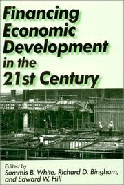 Cover of: Financing Economic Development in the 21st Century |