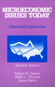 Cover of: Microeconomic Issues Today | Robert B. Carson