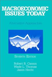 Cover of: Macroeconomic Issues Today | Robert B. Carson
