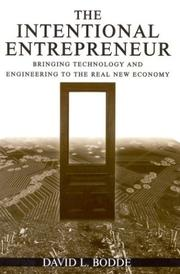 Cover of: The Intentional Entrepreneur | David L. Bodde