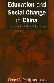 Cover of: Education And Social Change in China | Gerard A. Postiglione