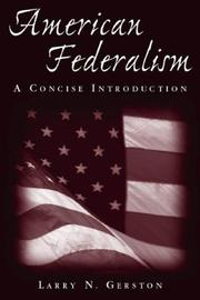 Cover of: American Federalism | Larry N. Gerston