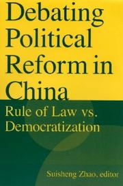 Cover of: Debating Political Reform in China