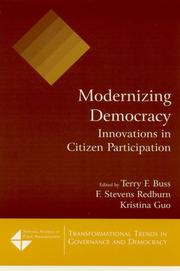 Cover of: Modernizing Democracy | Xavier N. (FWD) De Souza Briggs