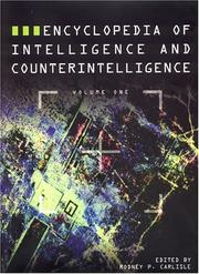 Cover of: Encyclopedia of Intelligence and Counterintelligence
