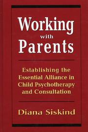 Cover of: Working with parents | Diana Siskind