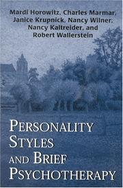 Cover of: Personality Styles and Brief Psychotherapy