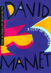 Cover of: 3 uses of the knife | David Mamet