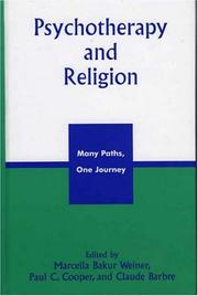 Cover of: Psychotherapy and Religion