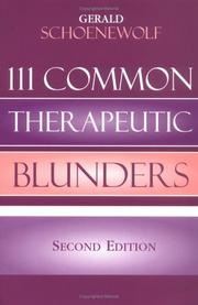 Cover of: 111 Common Therapeutic Blunders