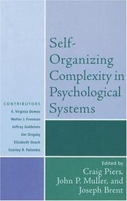 Cover of: Self-Organizing Complexity in Psychological Systems (Psychological Issues)