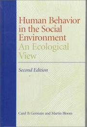 Cover of: Human behavior in the social environment
