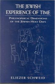 Cover of: The Jewish Experience of Time: Philosophical Dimensions of the Jewish Holy Days