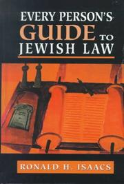 Cover of: Every Person's Guide to Jewish Law