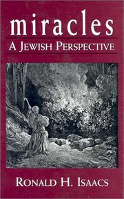 Cover of: Miracles: a Jewish perspective